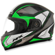 Black/Bright Green FX-90 Extol Helmet