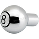 Ball Milled Chrome Billet Choke Knob - 02-58