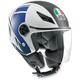 FX White/Blue Blade Helmet