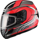 Red/Silver GM44S Glacier Modular Snowmobile Helmet
