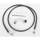 Front Extended Length Black Vinyl Braided Stainless Steel Brake Line Kit +6 in. - 1741-2535