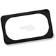 Black Smooth License Plate Frame - 12-148