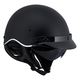 Matte Black SC3 Half Helmet with Sunshield