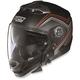 Flat Black/Red N44 N-Com Como Helmet