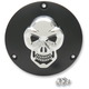 Black Derby Cover with Chrome Skull - 1107-0267