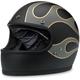 Flat Black/Gray Gringo Flames Helmet