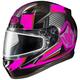 Black/Neon Pink/Gray CL-17SN MC-8 Striker Helmet w/Frameless Dual Lens Shield