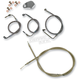 Throttle-by-Wire Handlebar Cable and Brake Line Kit for Use w/Mini Ape Hangers - LA-8010KT-08