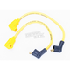 Yellow 8mm Pro Spark Plug Wires w/90 Degree Boot - 77435