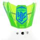 Hi-Vis Green/Blue MC-4H FG-X Talon Helmet Visor - 60-3232K