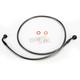 Black Pearl Designer Series 35 Degree Top Angle Custom Single-Disc Front Brake Line - 46142SW