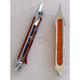 Chrome Tribal Style Bag Lights w/Amber LEDs - BL02-LSC