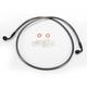 Black Pearl Designer Series 90 Degree Top Angle Custom Single-Disc Front Brake Line - 46248SW