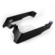 Flat Black 3 in. Billet Saddlebag Extentions w/Cutouts for Dual Exhaust - 200-SB-14
