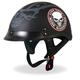 Matte Black Stencil Skull Helmet