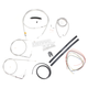Stainless Braided Handlebar Cable and Brake Line Kit for Use w/12 in. - 14 in. Ape Hangers (w/o ABS) - LA-8100KT2A-13