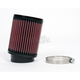 Universal Round/Straight Clamp-On Air Filter - 4 in. Diameter x 5 in. Long - RU-1460