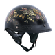Women's Black Key Lock Heart Helmet