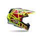 Yellow/Red Moto-9 Carbon Flex Strapped Helmet