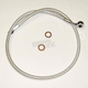 Custom Sterling Chromite II Designer Series ABS Upper Brake Line - 180°, 10mm, 34 in. - AS37634