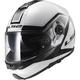 White/Black Strobe Civik Modular Helmet