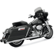 Chrome +P Bagger Stepped True-Dual Exhaust System with Power Curve w/Black End Caps - 1F46R