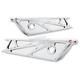 Chrome WireFrame Saddlebag Latch Cover - 50-246