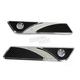 Chrome Elite Saddlebag Latch Covers - EBL-001-C