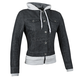 Womens Black Fast Times Denim Hoody Jacket
