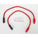 Red 409 Pro Race Wires w/180 degree Boot - 40234