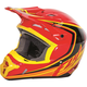 Youth Red/Black/Yellow Kinetic Fullspeed Helmet
