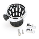 Drink Holder w/Chrome 1-1/4 in. Handlebar Mount - 50414