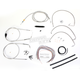 Stainless Braided Handlebar Cable and Brake Line Kit for Use w/12 in. - 14 in. Ape Hangers - LA-8005KT2A-13