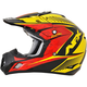 Black/Yellow/Red Complex FX-17 Factor Helmet