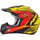 Black/Yellow/Red Complex FX-17 Factor Helmet