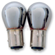 Chrome Double Contact Natural Amber Bulb - X1157-NAC