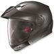 Metallic Platinum Silver N40 Full N-Com Helmet