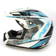 Pearl White/Blue FX-17 Factor Helmet