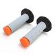 Gray/Orange Tri-Density Half Waffle Grips - 02-4864