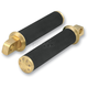 Brass Tracker Footpegs w/Straight Male Mounts - 0035-1091