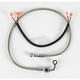 Rear Standard Length Clear-Coated Braided Stainless Steel Brake Line Kits - 1204-2752