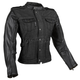 Women's Black Six Speed Sisters Leather/Denim Jacket
