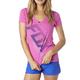 Women's Fuschia Suspension V-Neck T-Shirt