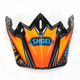 Orange/Blue/Black VFX-W Maelstrom TC-8 Helmet Visor - 0245-6085-08