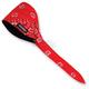 Red Paisley Traditional Old School Bandana - OSB1-225