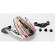 White/Black/Silver Visor Kit for Quadrant Pro Circuit Helmets - 0132-0541