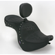 Studded Flame Stitch Low-Profile Double-Bucket Seat with Backrest - 0810-0933