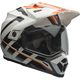 Orange/White Raid MX-9 Adventure Helmet