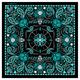Womens Blue Paisley Skull Bandana - BAB1072