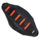 Black/Orange Ribbed Seat Cover - 0821-1796